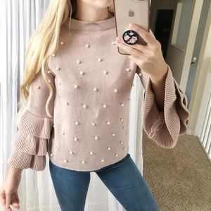 Sweaters - Pearl Embellished Sweater